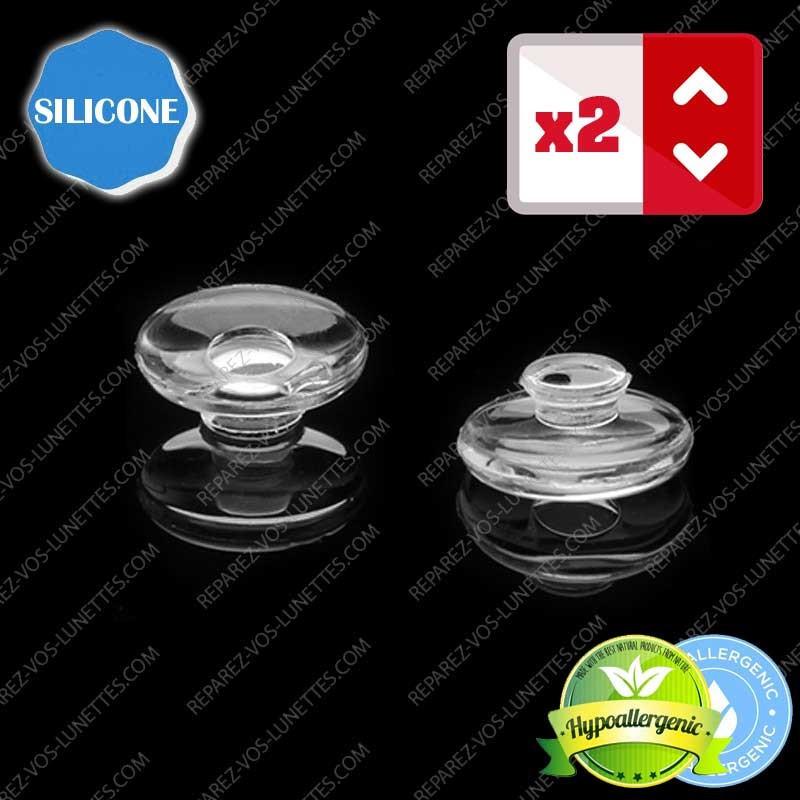 Paire de plaquettes à clipser silicone sur lunettes (clips ronds)