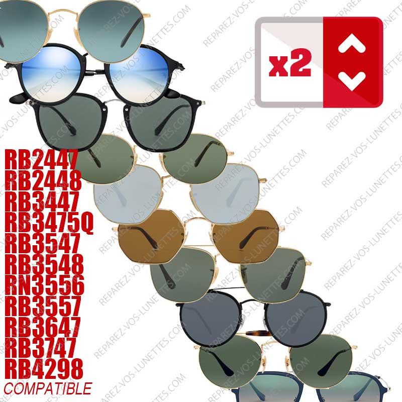 Paire de branches pour Rayban Rondes (10 modèles)