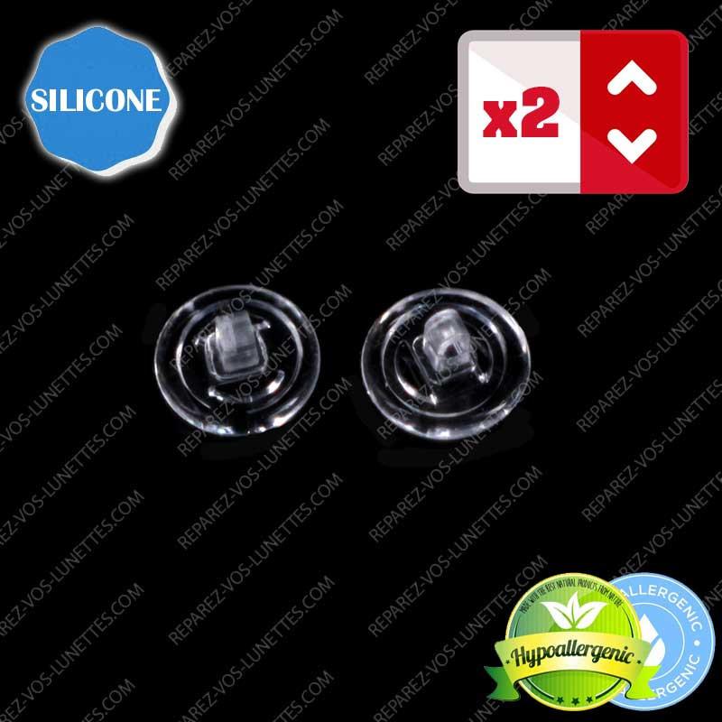 Paire de plaquettes à visser silicone ronde