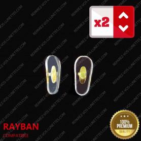Paire de plaquettes à sertir dorées sur lunettes pour Rayban