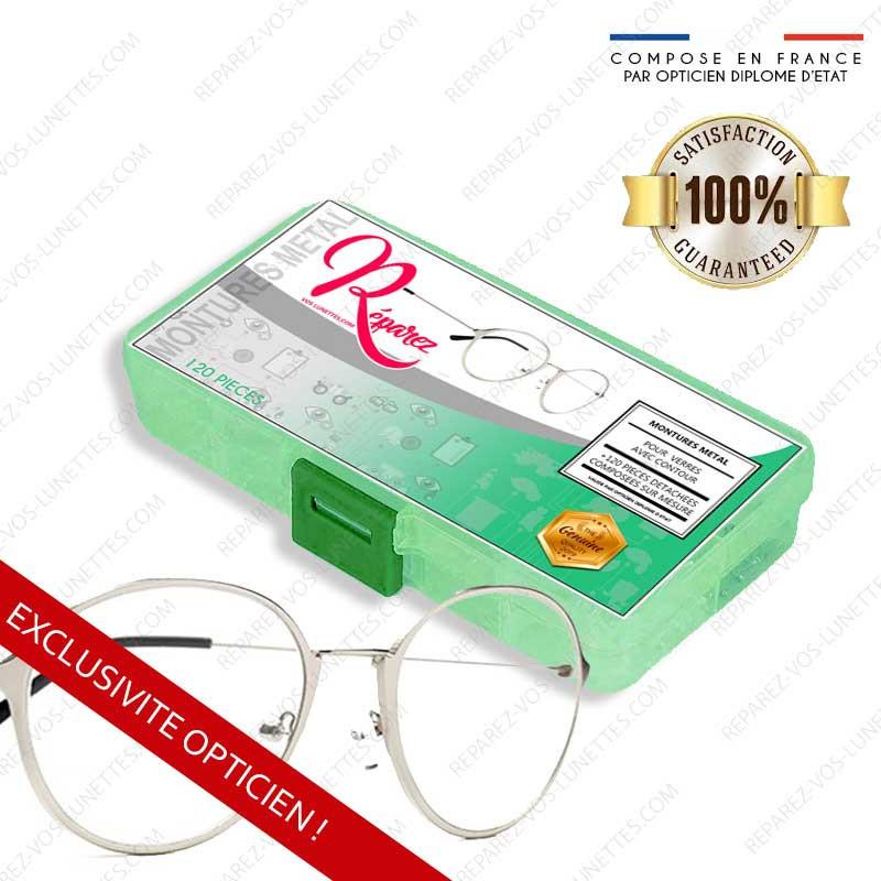 Kit de réparation Optique Lunettes Métal cerclées