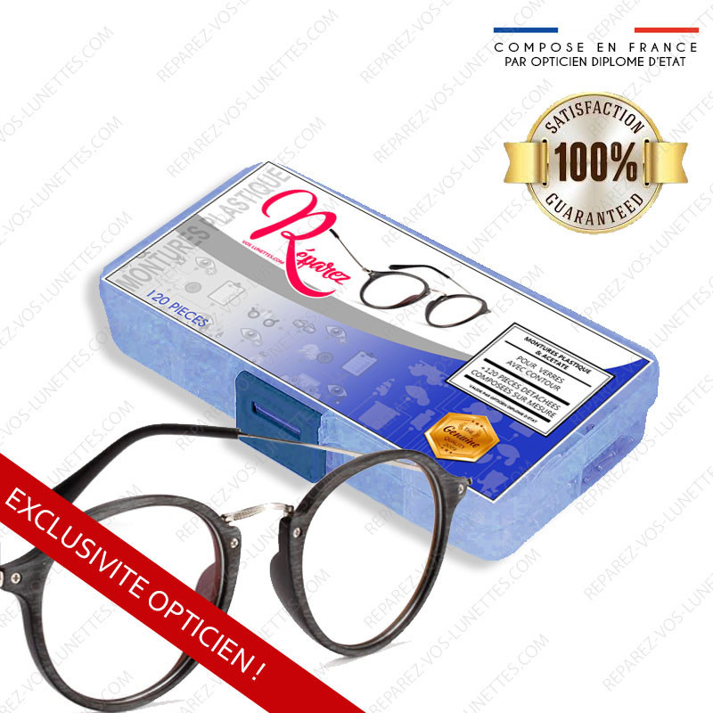 Kit de réparation Optique Lunettes Plastique & Acétate