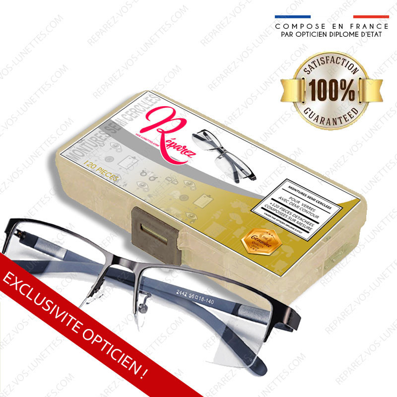 Kit de réparation Optique Lunettes semi cerclées nylor