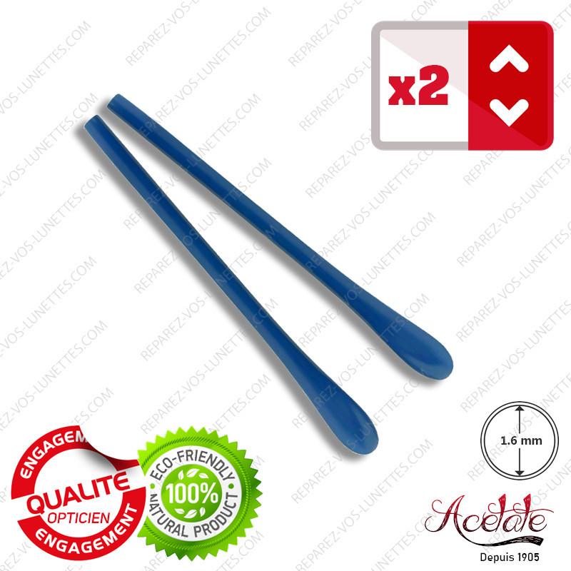 2 Embouts bleus classiques pour Branches de lunettes