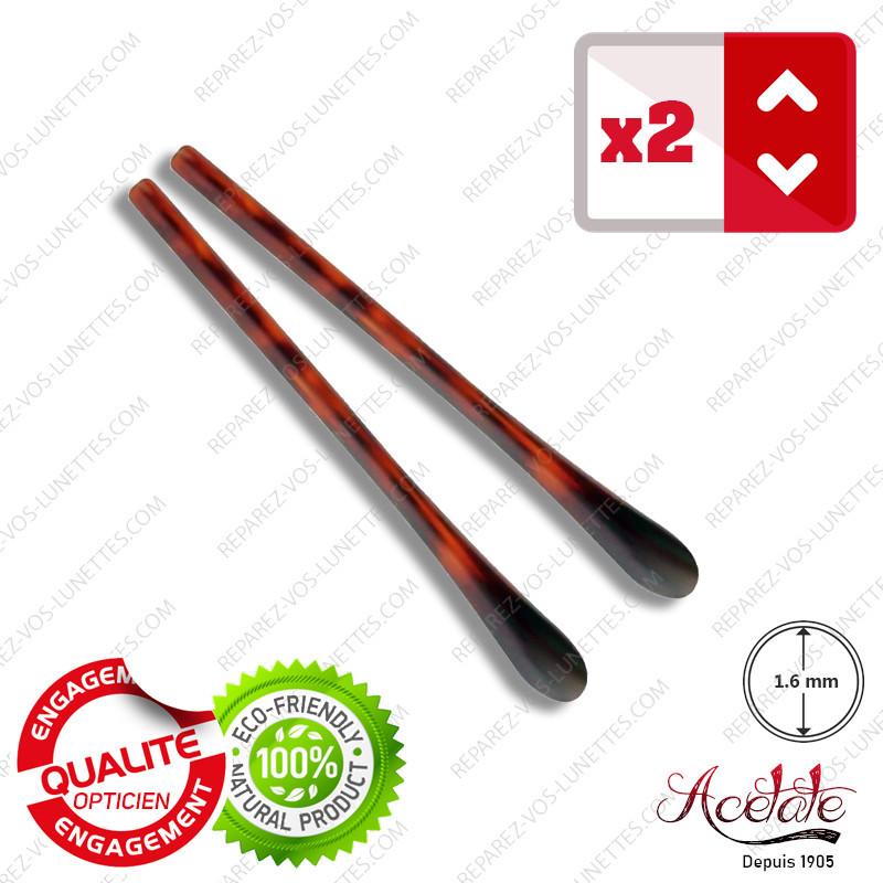 2 Embouts noirs mat pour Branches de lunettes