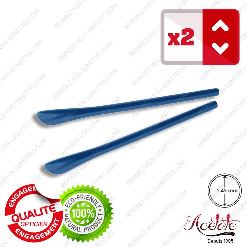 2 Embouts Modernes bleus pour Branches de lunettes