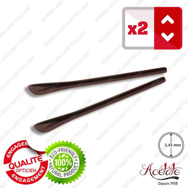 2 Embouts marrons mat pour Branches de lunettes