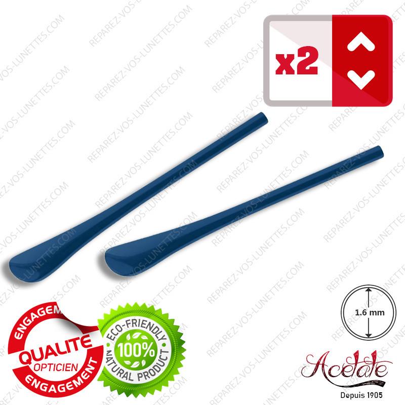 2 Embouts bleus mat pour Branches de lunettes