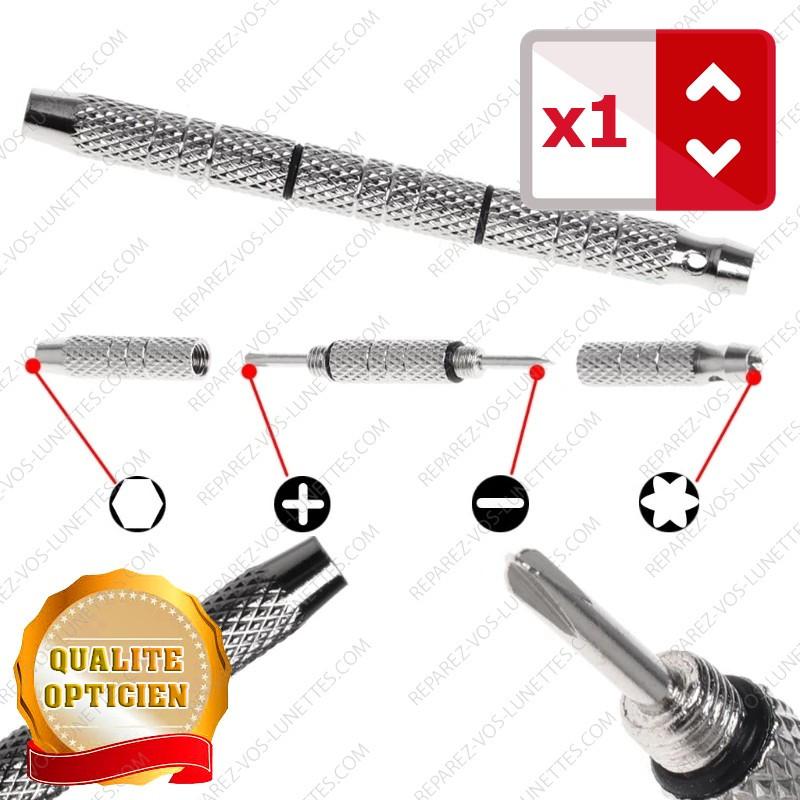 Tournevis Opticien de poche avec clé pour écrou