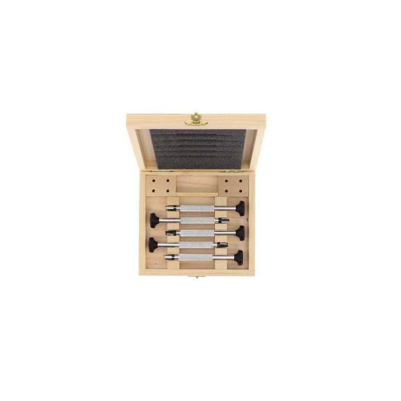 Coffret bois Pro 5 tournevis et 7 lames