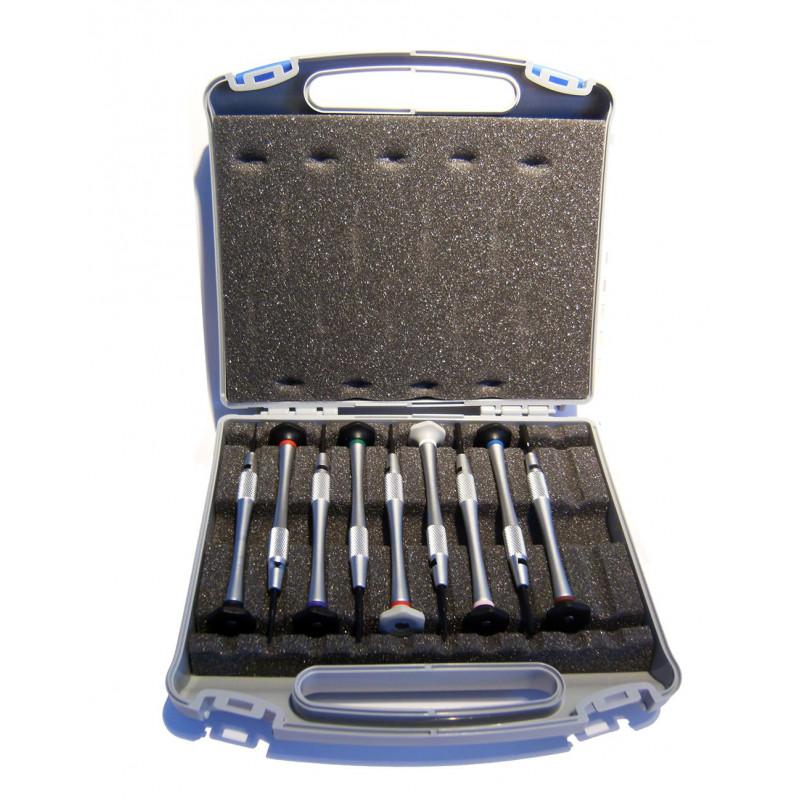 Malette 10 tournevis et clés Pro Opticien