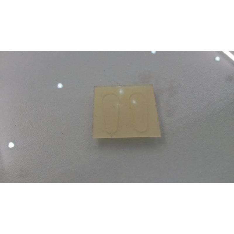 MINI Plaquettes adhésives Silicone protection sur montures FINES Acétate Plastique