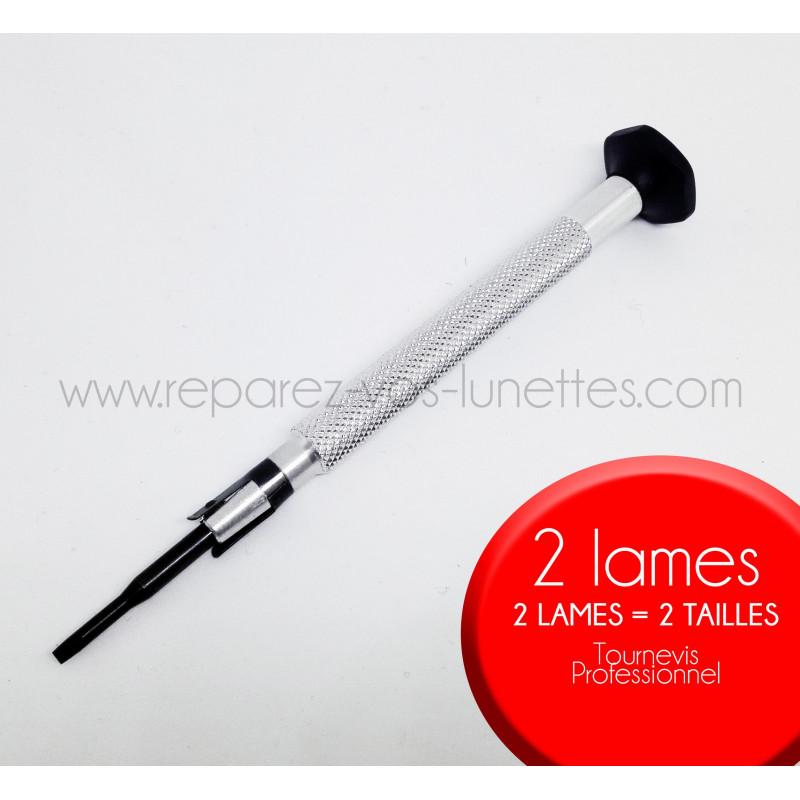 Tournevis Opticien - matériel professionnel, 2 lames