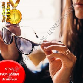 Vis perdue: pack 10 vis pour lunettes de MARQUE