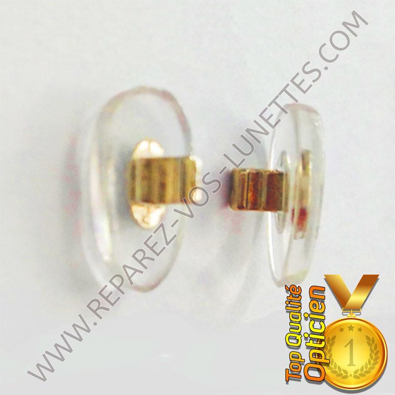 Paire de plaquettes métal doré à clipser sur lunettes