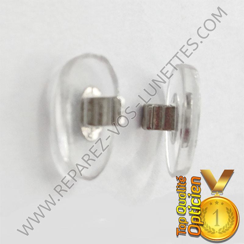 Paire de plaquettes métal argenté à clipser sur lunettes