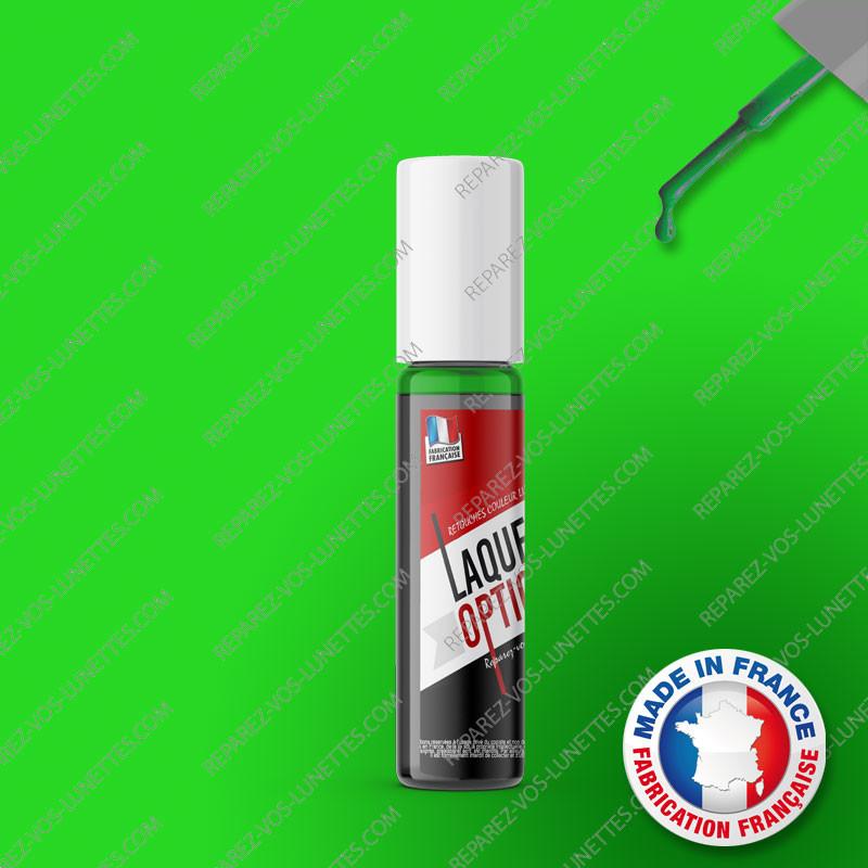 Laque verte 12ml pour montures métal + applicateur