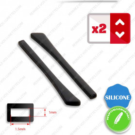 2 Embouts Silicone plats noirs