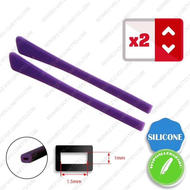 2 Embouts Silicone plats violets