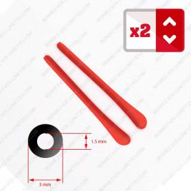 2 Embouts rouges pour Branches de lunettes