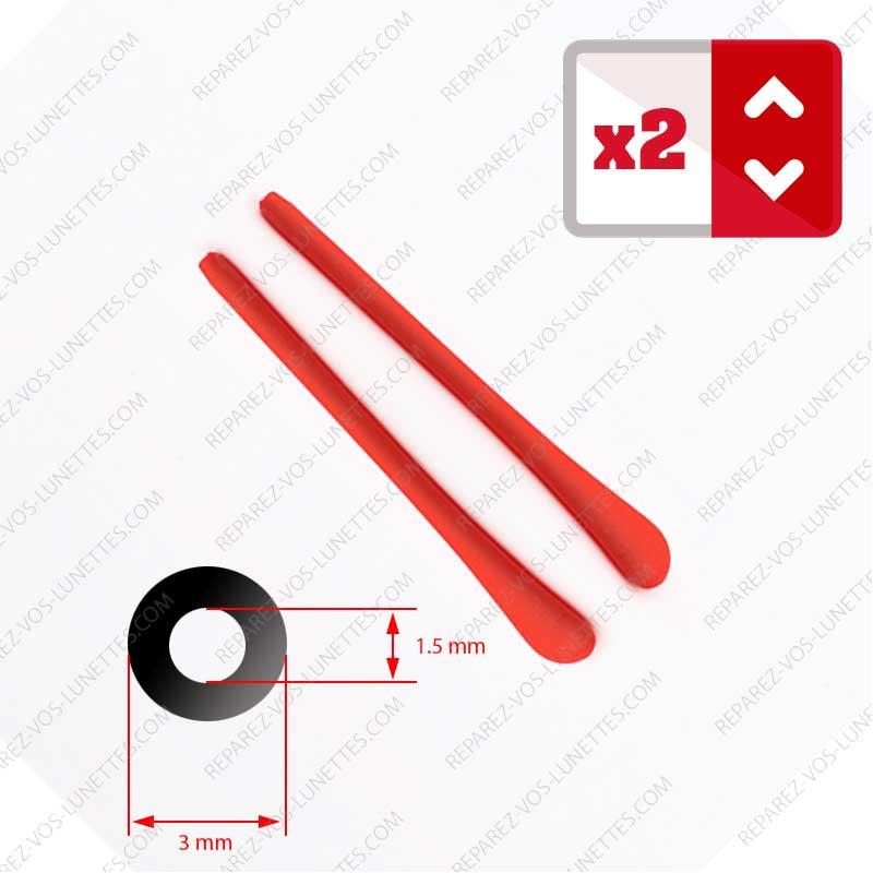 2 Embouts rouge pour Branches de lunettes