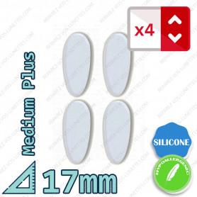4x Coussinet de nez Silicone adhésif Medium Plus