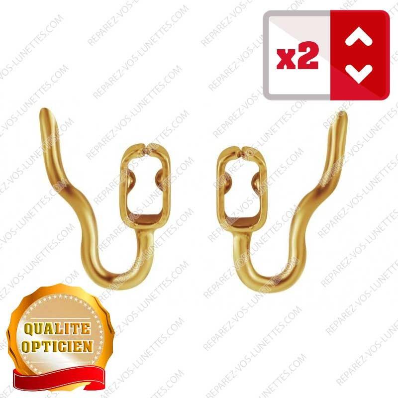 2 Supports de plaquettes à clipser dorés