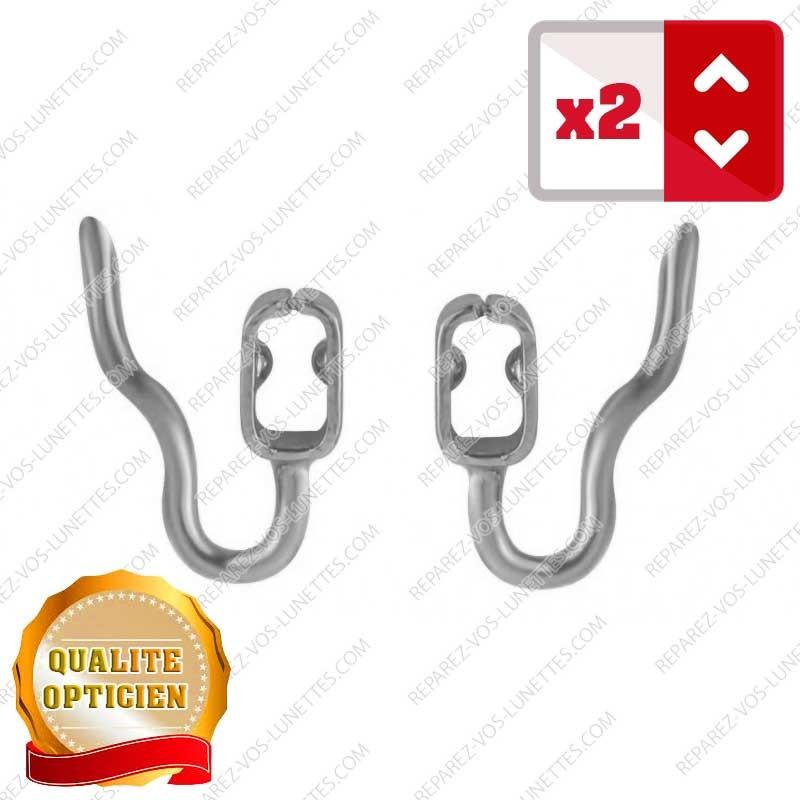 2 Supports de plaquettes à clipser argentés