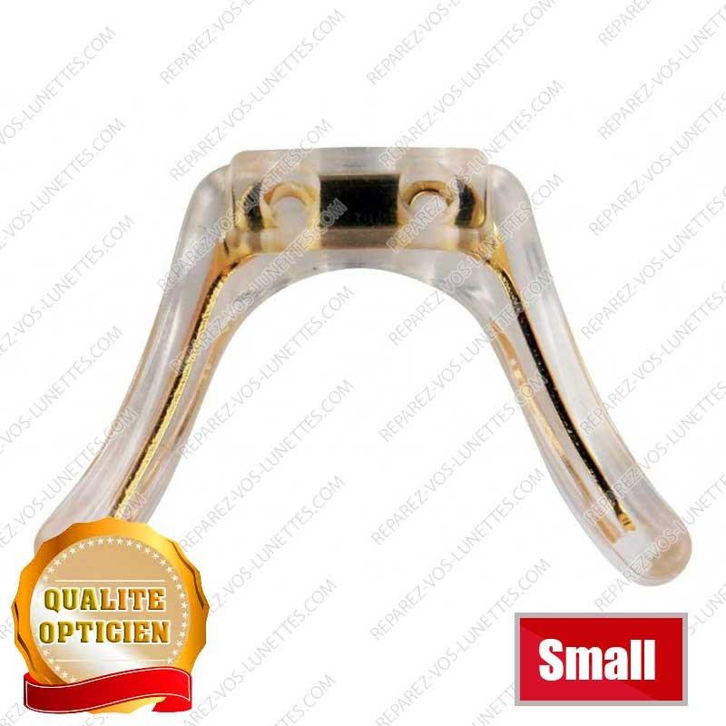 Double nez silicone doré small