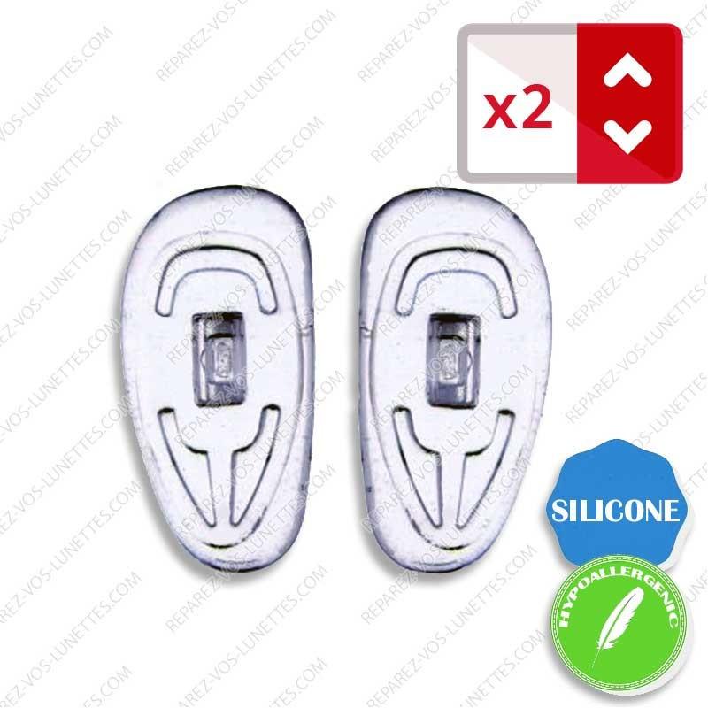 Paire de plaquettes à clipser silicone Profilées anti allergies